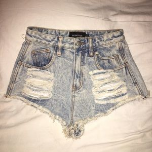 Mink pink high waisted shorts size XS